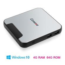 Оригинальный ценово Mini PC 2 tv box Intel Cherry Trail Z8350 4 ГБ ROM 64 ГБ емкость Quad Core HD 64bit Win 10 Wi-Fi BT4.0 Set Top