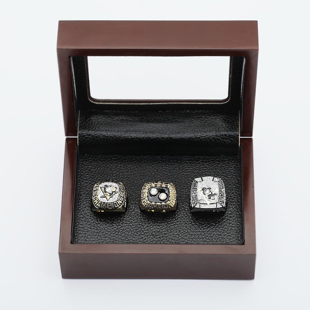 5a99871b53ded One set (3PCS) NHL 1991 1992 And 2009 PITTSBURGH PENGUINS STANLEY CUP  Championship Rings Wooden Box Size 10 13-in Rings from Jewelry    Accessories on ...