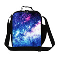 Fashion Galaxy Lunch bags for kids School,Personalized lunch bag patterns for Women,Teen Messenger lunch box bag with straps