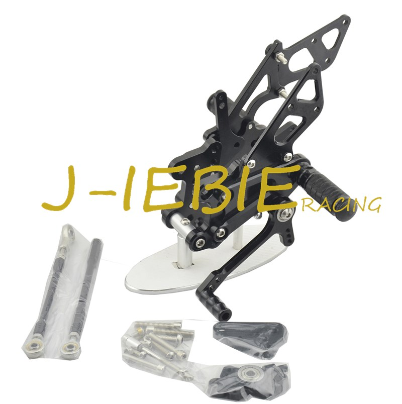 CNC Racing Rearset Adjustable Rear Sets Foot pegs Fit For Honda CBR600RR CBR600 RR F5 2007-2016 BLACK titanium cnc aluminum racing adjustable rearset foot pegs rear sets for yamaha mt 07 fz 07 mt07 fz07 2013 2014 2015 2016