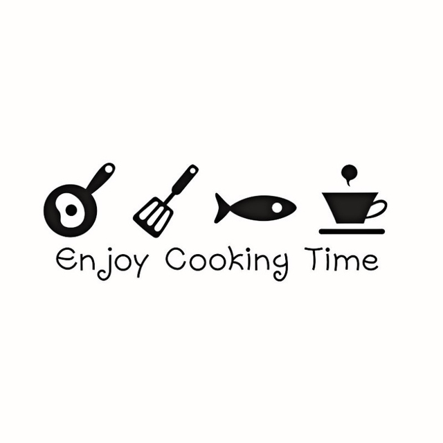 Kitchen Enjoy Cooking Time Wall Sticker