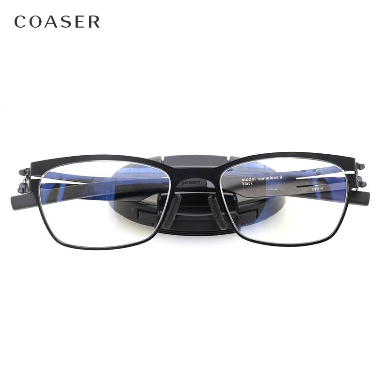 Germany Quality Stainless Steel metal frame Glasses Men Square Myopia prescription eyewear optical eyeglasses frame spectacle