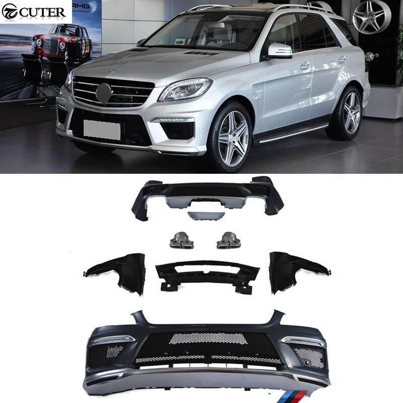 W164 ML300 ML350 ML500 ML63 PP Kits de carrosserie Auto pare-chocs avant arrière pour Benz W164 AMG ML500 ML63 11-15