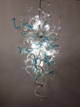Free Shipping Christmas New Wedding Deco Long Shape Hand Blown Glass Chandelier