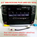 "6.5 ""MIB UI Rádio RCD510 RCN210 RCD330 RCD330G Plus para VW Golf 5 6 Jetta Passat CC Tiguan MIB 6RD 035 187A Do Bluetooth Rádio Do Carro"