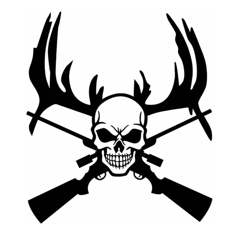 Pegatina Hunt Buck Sticker Antler Skull Hunter Club Decal