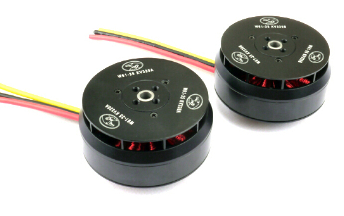 HL W61-35 330KV Outrunner Brushless Disk Type Motor for FPV Hexacopter Octocopter Multicopter Multi-rotor (6S, 3.5Kg) - 2pcs купить в Москве 2019