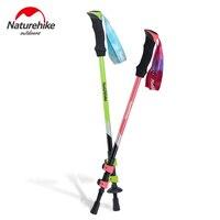 NatureHike 1 Pcs Ultra Light External Lock EVA Handle 3 Section Adjustable Canes Walking Sticks Trekking