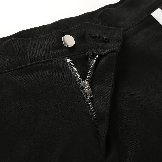 Black Summer Basic Style Female Casual Shorts