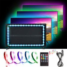 1M 2M 3M Neon Lights USB LED Strips RGB Ambilight TV Diode Tape Music IR Controller Car LED Strip Sensor Sound 5V Flexible Neon(China)