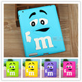 Kids Shockproof Cover Cute Rubber Silicone Rainbow Candy M & M Chocolate Bean Case for ipad2/3/4Tablet Accessories