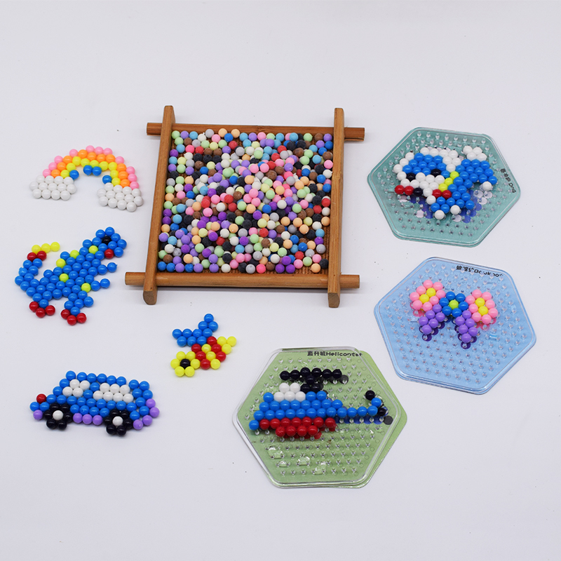 Diy Perler Pegboard Water Beads Toy For Children Fox&Rabbit Set Fuse Jigsaw Kids Educational Puzzle Girl Boy Beadbond Toys