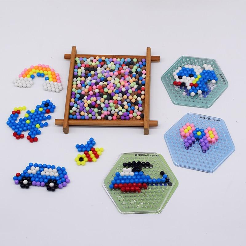 Diy Perler Pegboard Water Beads Toy For Children Fox&Rabbit Set Fuse Jigsaw  Kids Educational Puzzle Girl Boy Beadbond Toys