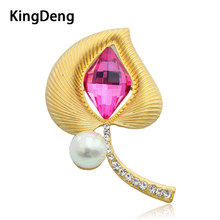Flower Brooches For Women Shirt Accessories Big Pearl Metal Lapel Pins Vintage Karl Brooches Rhinestone Jewelry Love Enamel Pins(China)