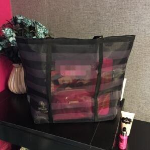 Gute! Paket Kosmetik tasche make-up tasche 2018 neue große wasserdichte leinwand zipper strand tasche schöne