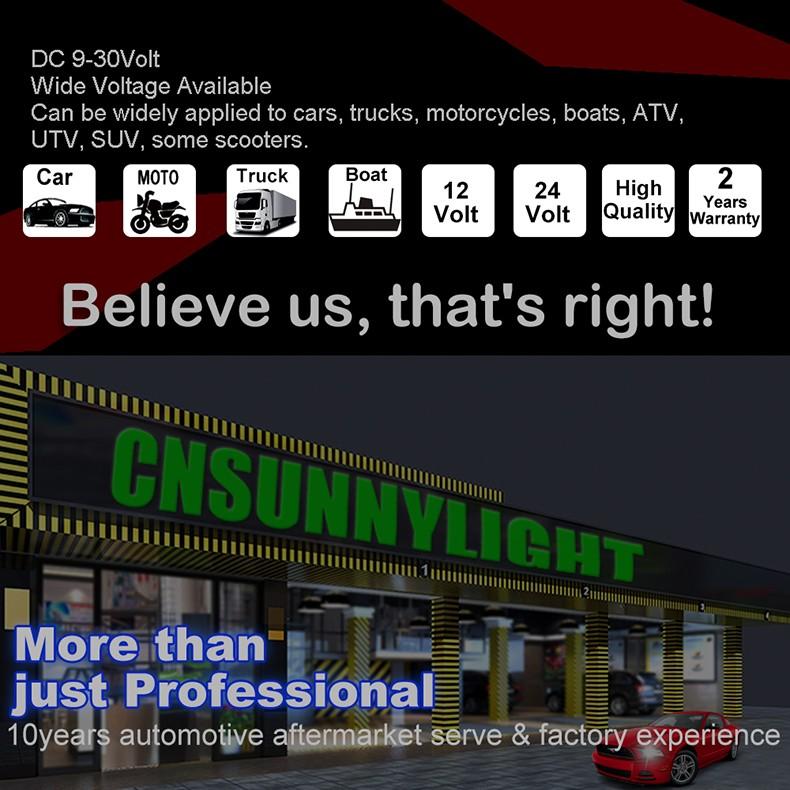CNSUNNYLIGHT Car Turbo LED Headlight Kit Canbus H7 80W 10000LM Super Bright Replace Bulb with Anti-Dazzle Beam No Error Warning (2)