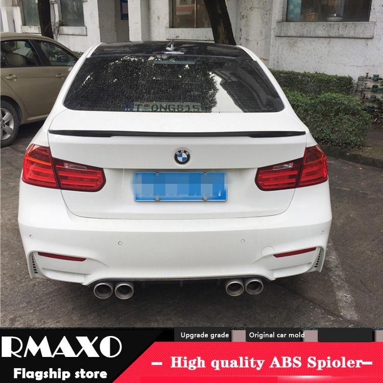 For BMW F30 F35 Spoiler 2015 2018 320li 325li F30 F35 P High Quality Carbon Fiber  Car Rear Wing Primer Color Rear Spoiler|Spoilers & Wings| |  - title=