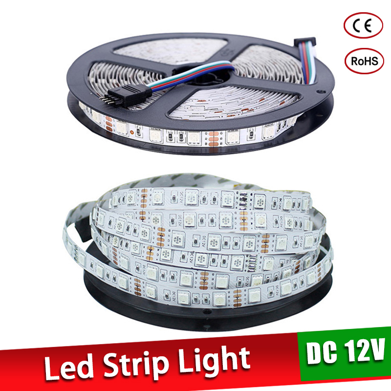 5M Waterproof Led Strip 300Leds DC12V SMD 5050 3528 Flexible Light Led Ribbon Tape Luz Monochrome Home Decoration Lamp