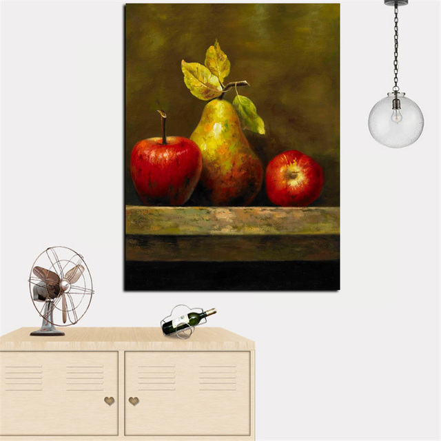 HD Print Abstract Still Life Oil Painting Artistic Table Fruits On Canvas  Wall Art Pictures Poster