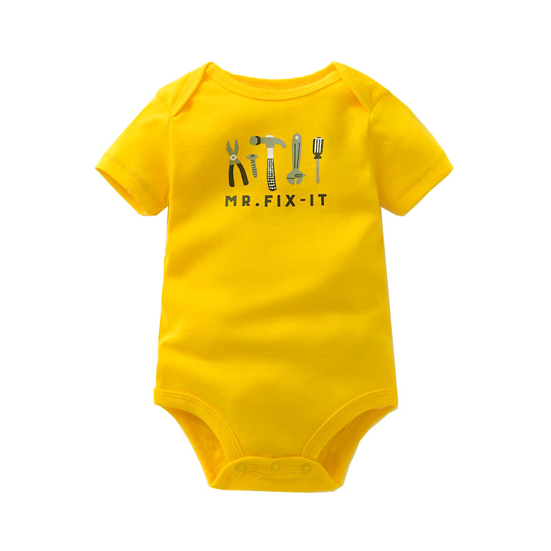 New Summer Baby   Rompers   Short Sleeve Baby Girls Clothing 100% Cotton Newborn Baby Boy Clothes Top Quality Kids Jumpsuits 6-24 M