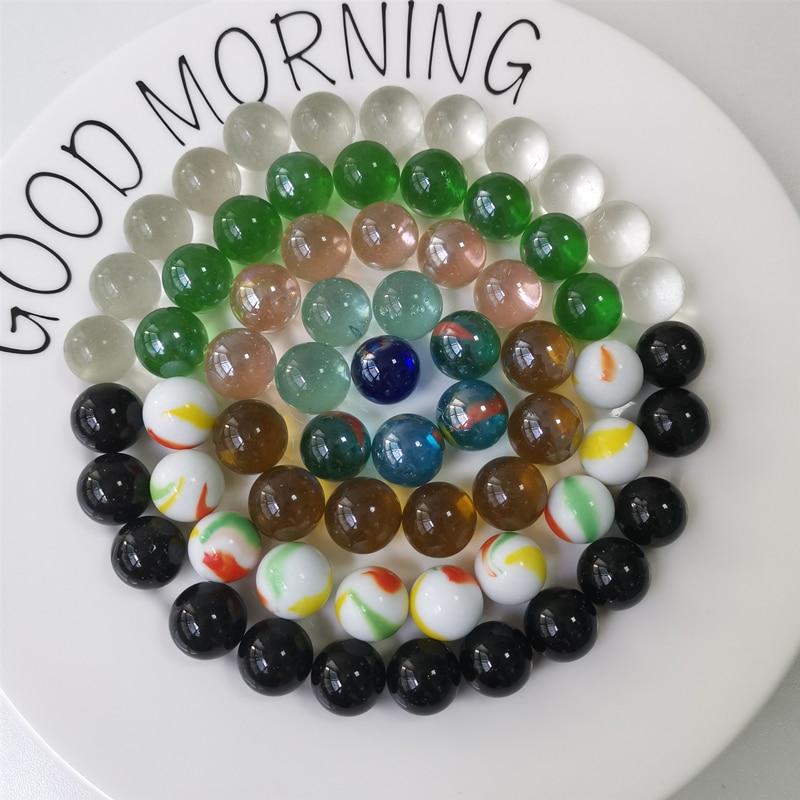 20PCS 16mm Glass Marbles Balls Clear Pinball Machine Charms Home Fish Tank Decoration Vase Aquarium Toys For Kids