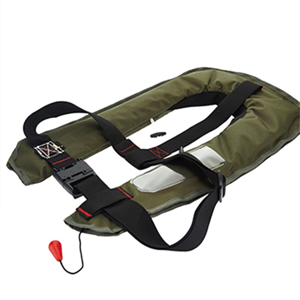 Manual Inflatable Automatic Inflatable Life Vest Survival Whistle Water Sports Life Jacket For Water skiing Upstream Surfing