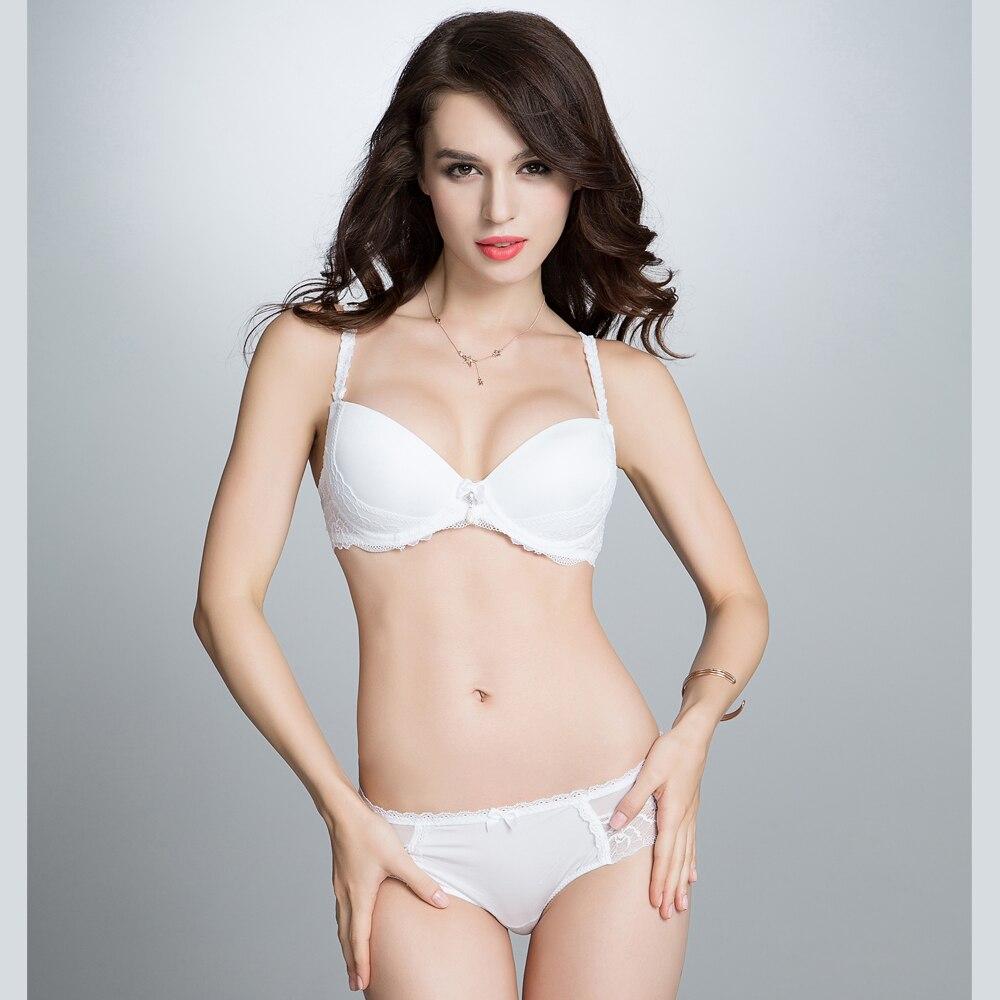 10534c9f929 German Design Womens Sexy Lace Push Up Underwire Bra Panty Sets Girls  Lingerie Set White Black Bralette Underwear Set -in Bra   Brief Sets from  Underwear ...