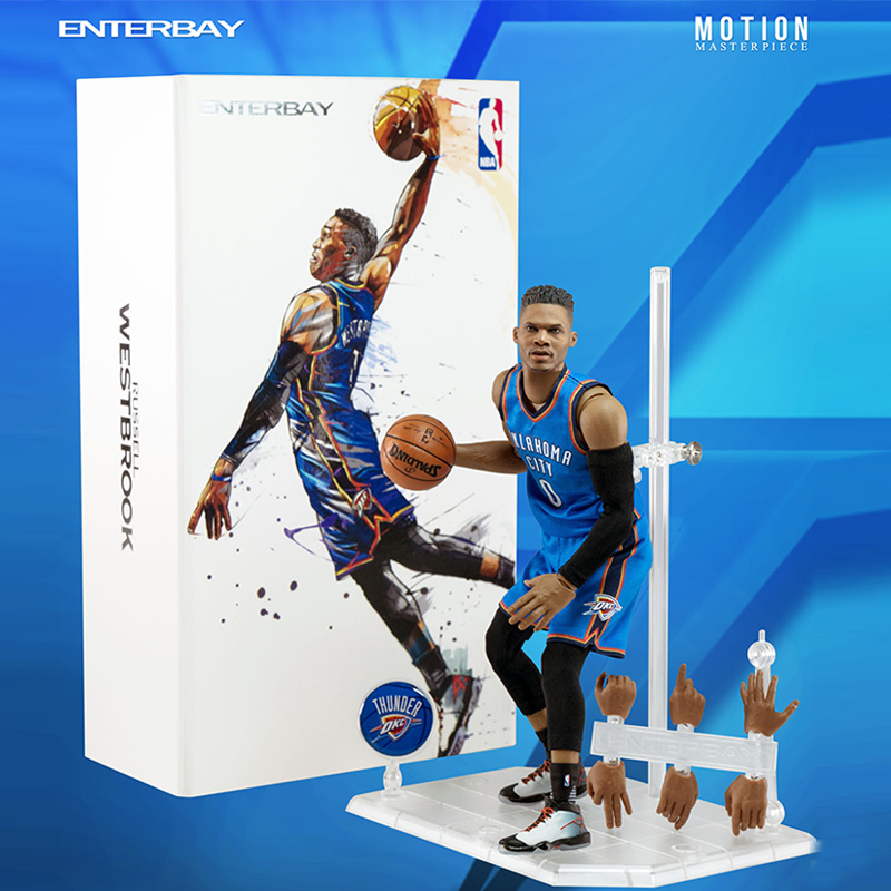 ENTERBAY Westbrook Soldiers Model EB Westbrook 1/9NBA Basketball Weiss Action Figure ModelENTERBAY Westbrook Soldiers Model EB Westbrook 1/9NBA Basketball Weiss Action Figure Model