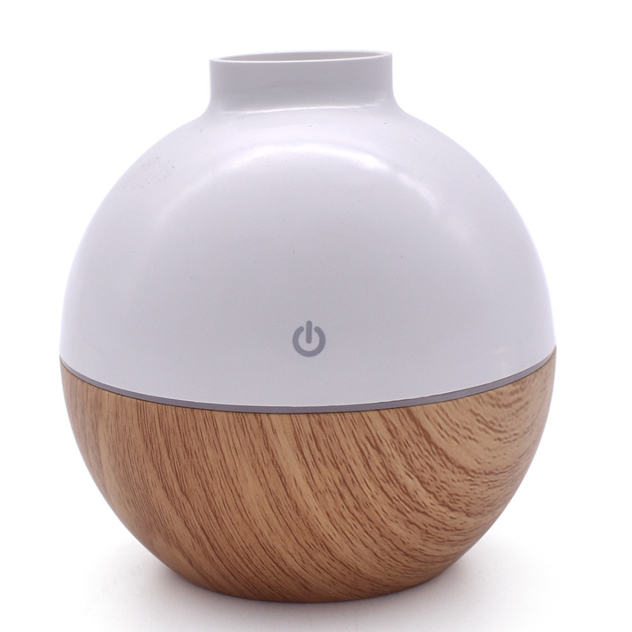 USB Air Humidifie 130ml Portable Aroma Diffuser with 7 color LED Light Essential Wood Grain Oil Diffuser Aromatherapy Mist Maker aroma diffuser 130ml