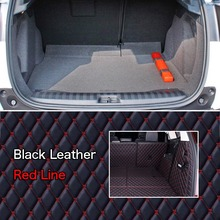 PU Leather Rear Trunk Cargo Liner Protector Mat Seat Back Cover For Peugeot 2008 custom fit luxury pu leather car trunk mat cargo mat for toyota venza 2008 2017 5d cargo liner