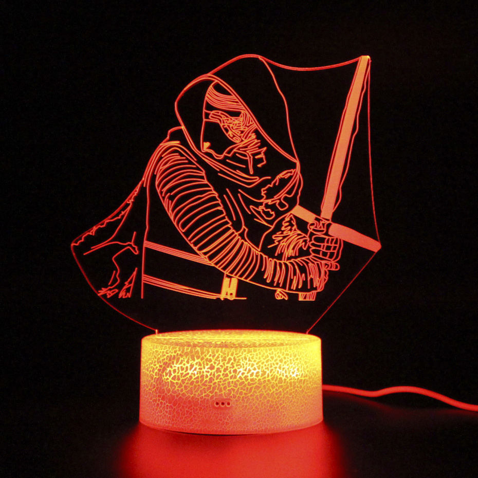 Kylo Ren Lamp 3d Table Lamp Touch Led Light Remote Control Kids Room Decoration Projection Night Light Lamps