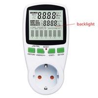 EU Plug Intelligent Digital AC Power Meters Electricity Analyzer Monitor Voltage Wattmeter Power Consumption Watt Energy Meter