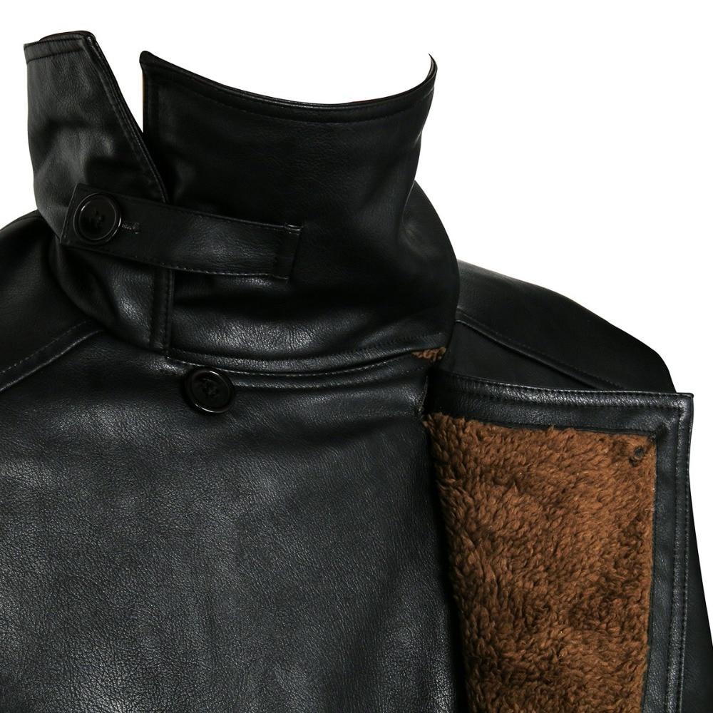 2049 лопасти бегуна, Тренч, костюм для косплея, 2017, куртка Райана Гослинга, верхняя одежда, длинное пальто из искусственной кожи, униформа на Хэллоуин, Новинка - 6