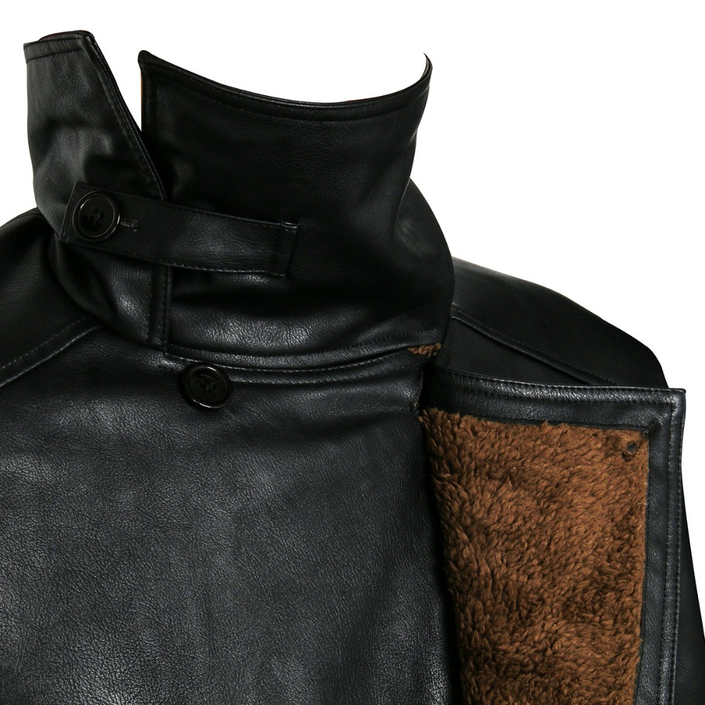 Blade Runner 2049 Offizier K Graben Cosplay Kostüm 2017 Ryan Gosling Jacke Outwear Lange PU Leder Mantel Halloween Uniform Neue - 6