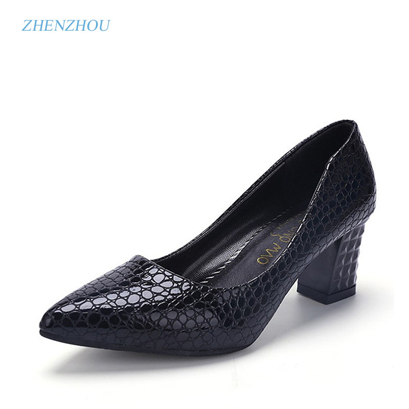 zhen zhou 2017 spring and autumn women's new fashion trend leadership cusp High heel shoes The shallow mouth Professional shoes isaac baah links between leadership styles and service quality