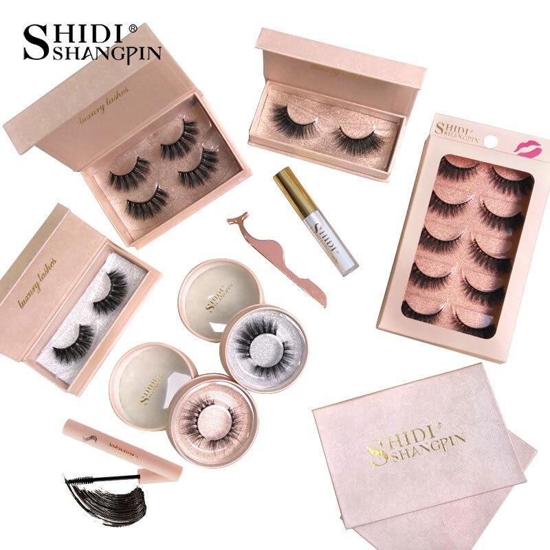 SHIDISHANGPIN Eyelashes Kit Mink Eyelashes Natural Long 3d ...