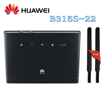 Desbloqueado Huawei B315 Huawei 4G CEP WIFI inalámbrico portátil Router Huawei B315s-22 Lte Wifi Router más 2 piezas 4g antena SMA