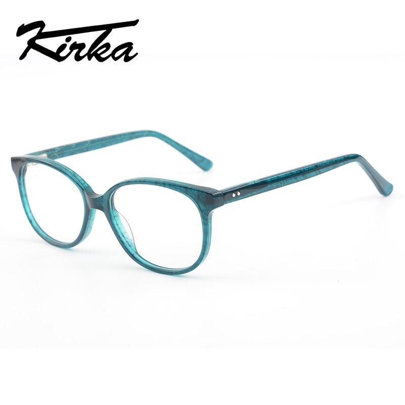 ffb0fecd42ca Kirka Acetate Myopia Glasses Women Eyeglass Frames Green Vintage Frames  Clear Lens Glasses Frame For Women
