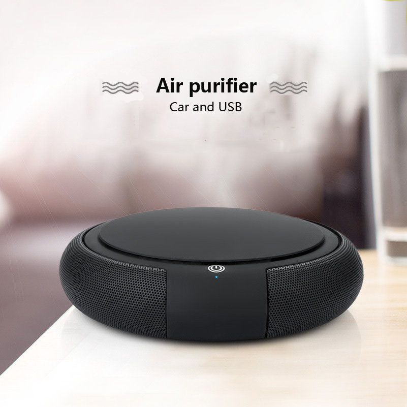 2018 Hot Selling Mini Car Air purifier Vehicle Power Supply and Usb Air Cleaner Automobile Except Formaldehyde Anion Oxygen Bar early summer new car air purifier formaldehyde haze anion oxygen bar