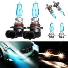 2X H1/H3/H4/H7/H8/H11/HB3/HB4 6000 К 12 В 100 Вт белый вождение автомобиля hod лампы свет фар галогеновая головного света автомобиля