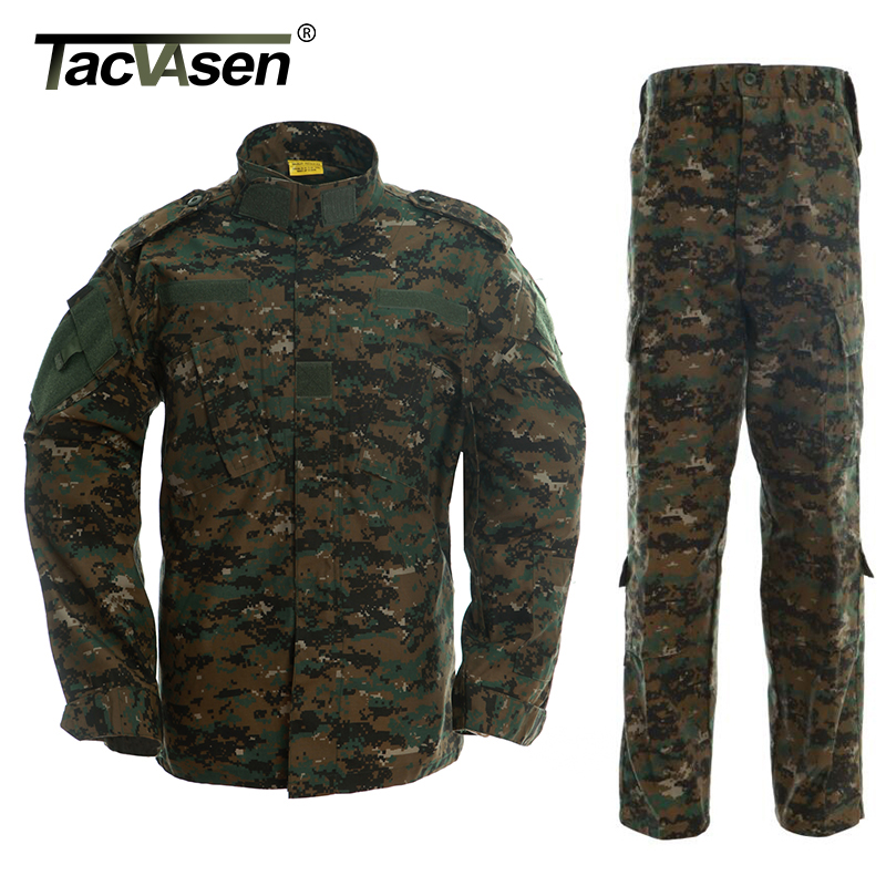 TACVASEN Digital Jungle Clothes Military Tactical Uniform Army Combat Uniform Jacket Pant Men s Combat Clothing