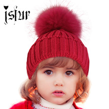 Crochet Baby Hat 2015 Clearance Costume Beanie Hats with Fur Pelz Top Fitted Kids Accessories Winter