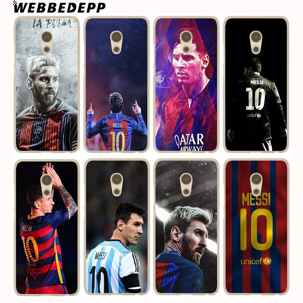 WEBBEDEPP Neymar Messi Football Soccer Hard Cover Case for Meizu M6 M5C M5S M5 M3S M3 M2 Note Mini Pro 6 7 U10 U20