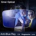 Anti-Rayo Azul Lente Progresiva 1.56 Receta de Lentes Ópticas Lentes de cristales De Protección de Los Ojos Gafas de Lectura