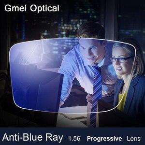 Image 1 - אנטי כחול Ray עדשת 1.56 משלוח מתקדמת טופס מרשם אופטי עדשת משקפיים מעבר UV כחול חוסם עדשת לעיניים הגנה