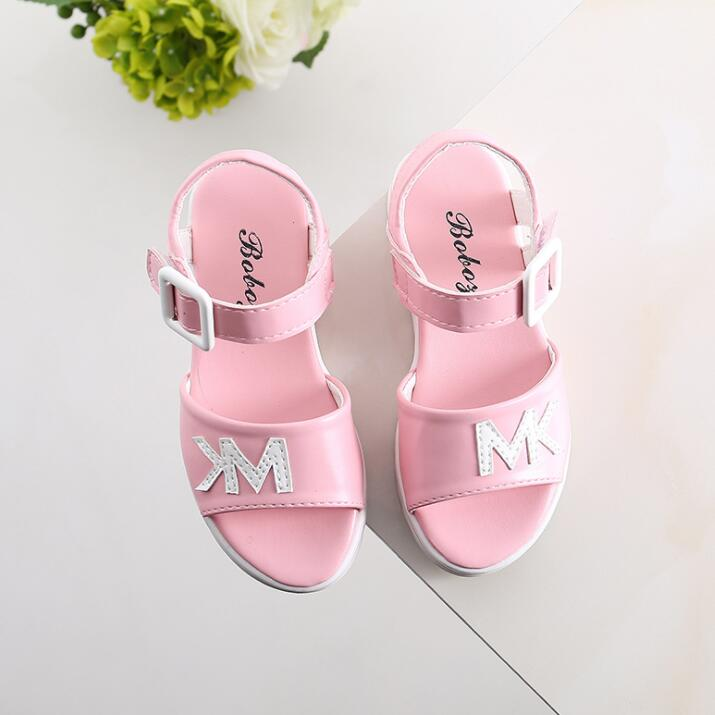 Children Sandals Shoes Causal Flat With Girls Sandals Summer Soft Bottom Children Girls School Shoes For 4-12 Year