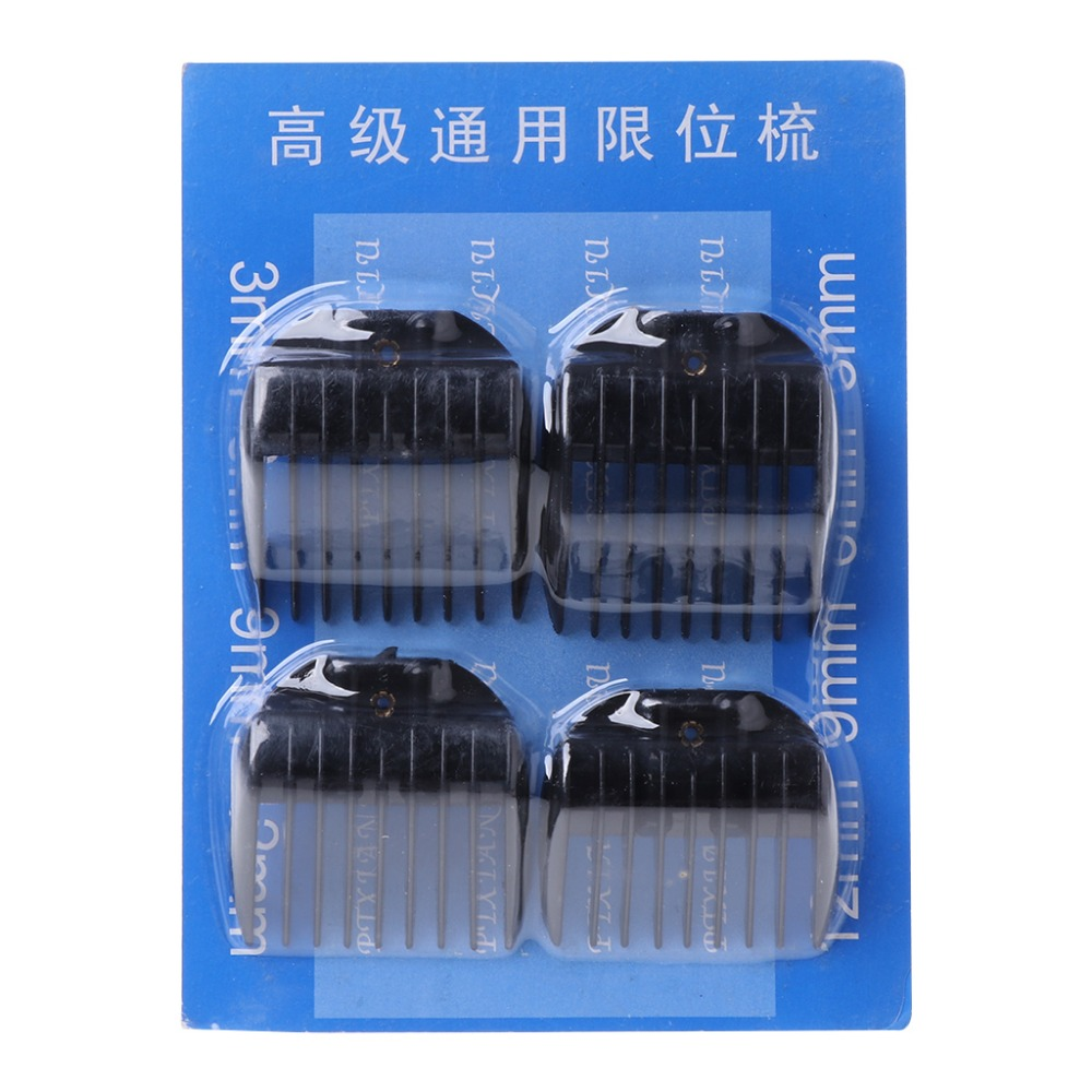 4Pcs Universal Hair Clipper Limit Combs Guide Guard Attachment Size 3.6.9.12mm JAN07 Dropship