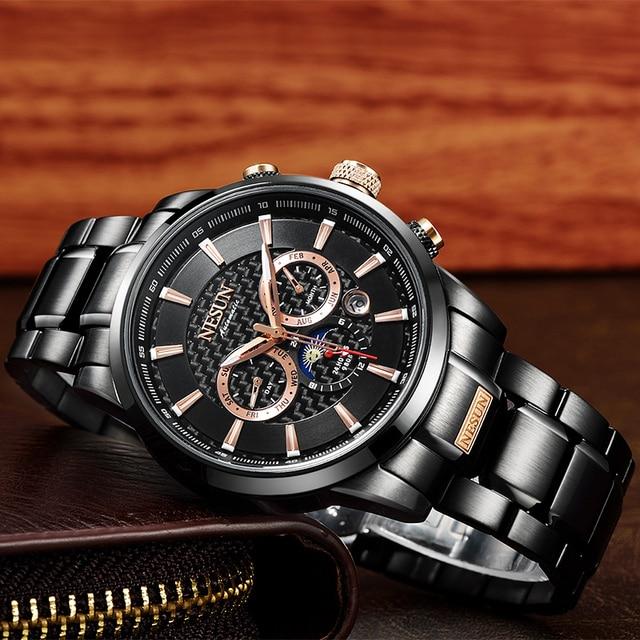 Swiss Luxury Brand NESUN Watch Multifunctional Display Automatic Self-Wind Watch 3