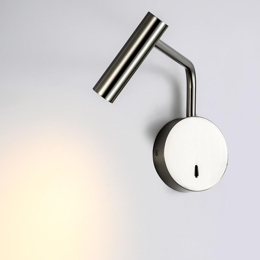 Image 2 - ZEROUNO домашний современный декор, настенный светильник для спальни, поворотный кронштейн с переключателем, светодиодный 3W светильник для чтения, ночной Светильник для прикроватной тумбы, для внутреннего интерьера-in Светодиодные комнатные настенные лампы from Лампы и освещение