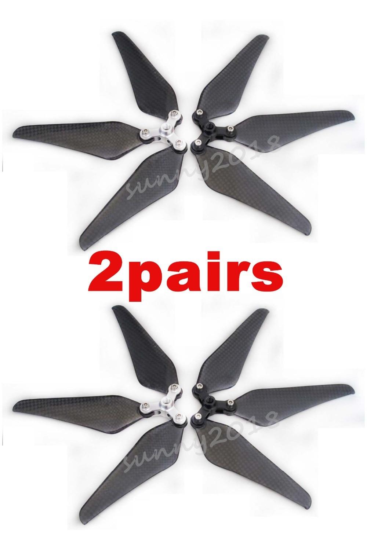 2 Pairs 9443 Self-locking Carbon Fiber CW//CCW Propeller for DJI Phantom 1//2